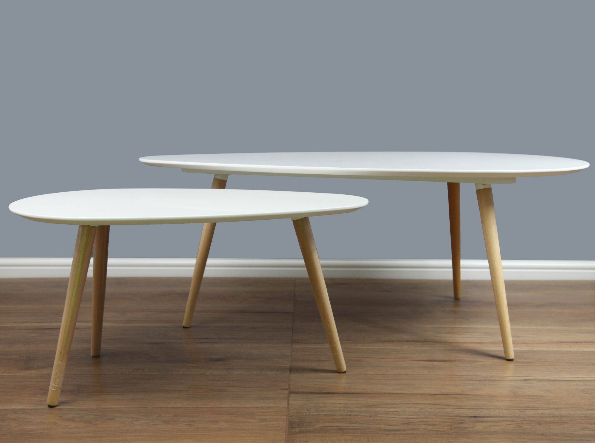 Petal Nest Of Tables - White pertaining to Nest Coffee Tables (Image 20 of 30)