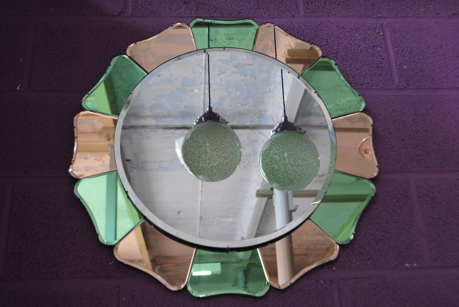 Petal Shape Original Art Deco Mirror || Cloud 9, Art Deco throughout Original Art Deco Mirrors (Image 21 of 25)