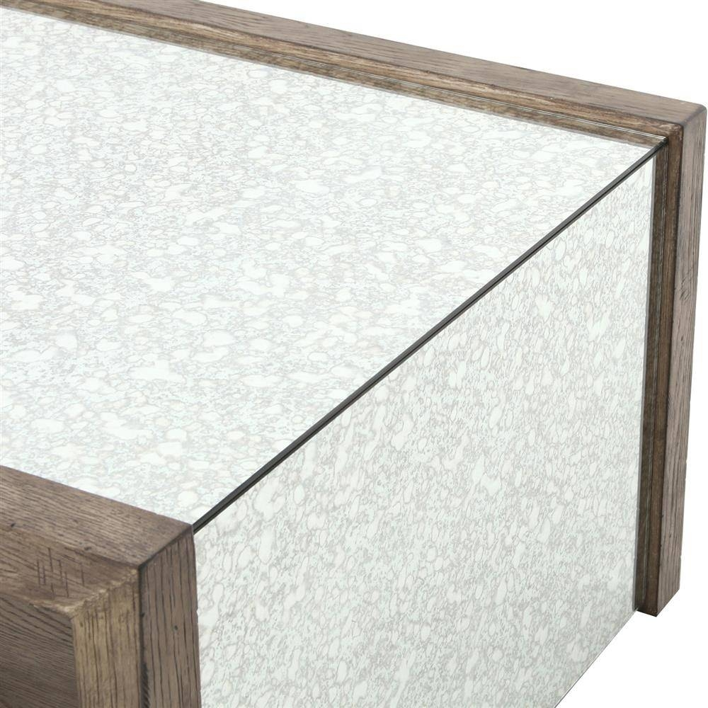Philip Rustic Washed Grey Wood Antique Mirror Coffee Table | Kathy for Vintage Mirror Coffee Tables (Image 22 of 30)