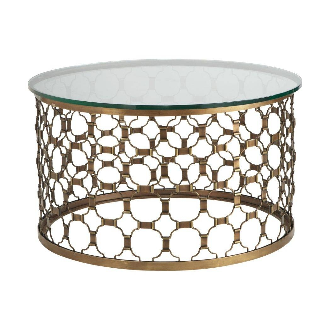 Pi Coffee Table Round Wood Metal Blu Dot Glass Modern Wal / Thippo inside Round Steel Coffee Tables (Image 18 of 30)