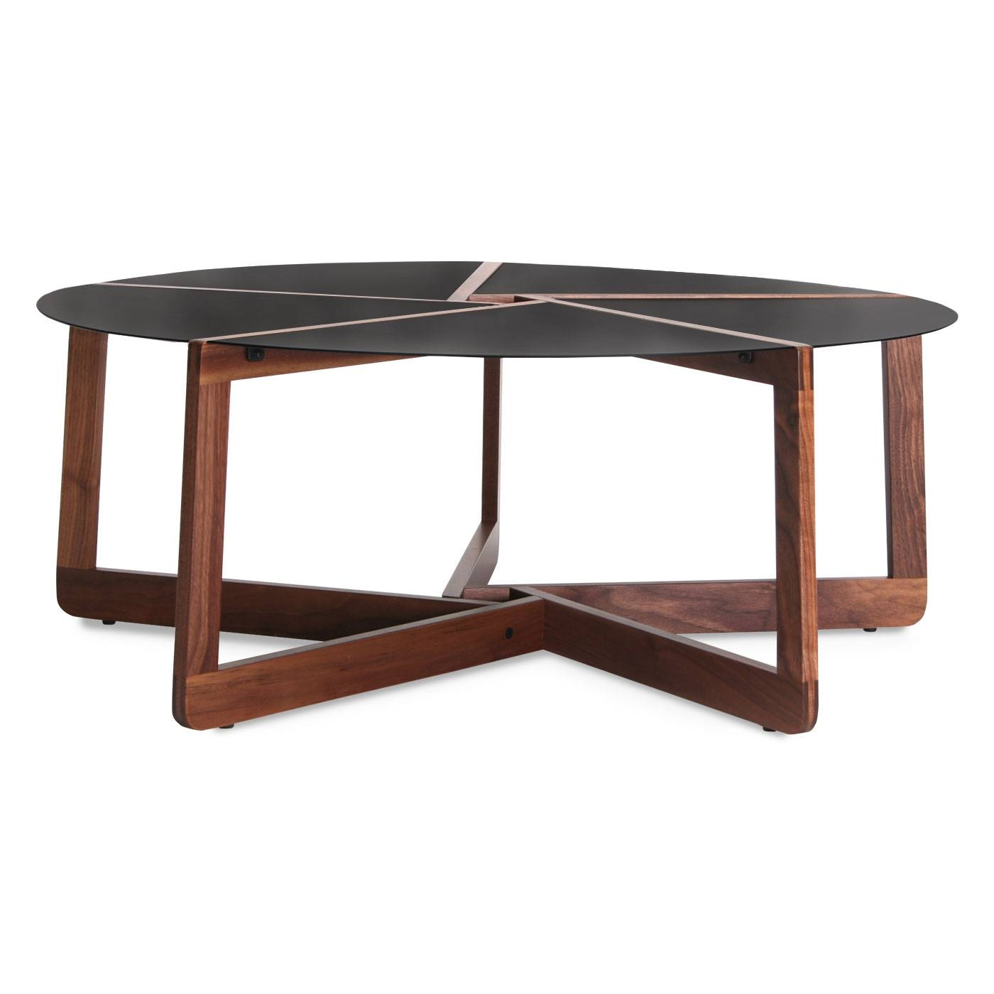 Pi Coffee Table – Round Wood & Metal Coffee Table | Blu Dot With Regard To Metal Round Coffee Tables (View 7 of 12)