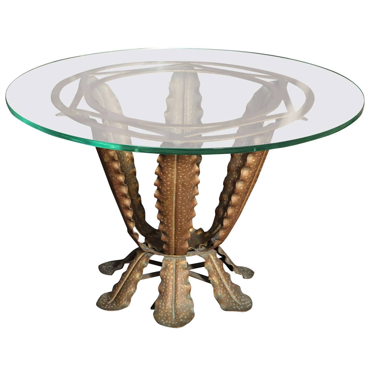 Pier One Round Glass Top Coffee Table With Funky Base Design Idea with regard to Funky Coffee Tables (Image 28 of 30)