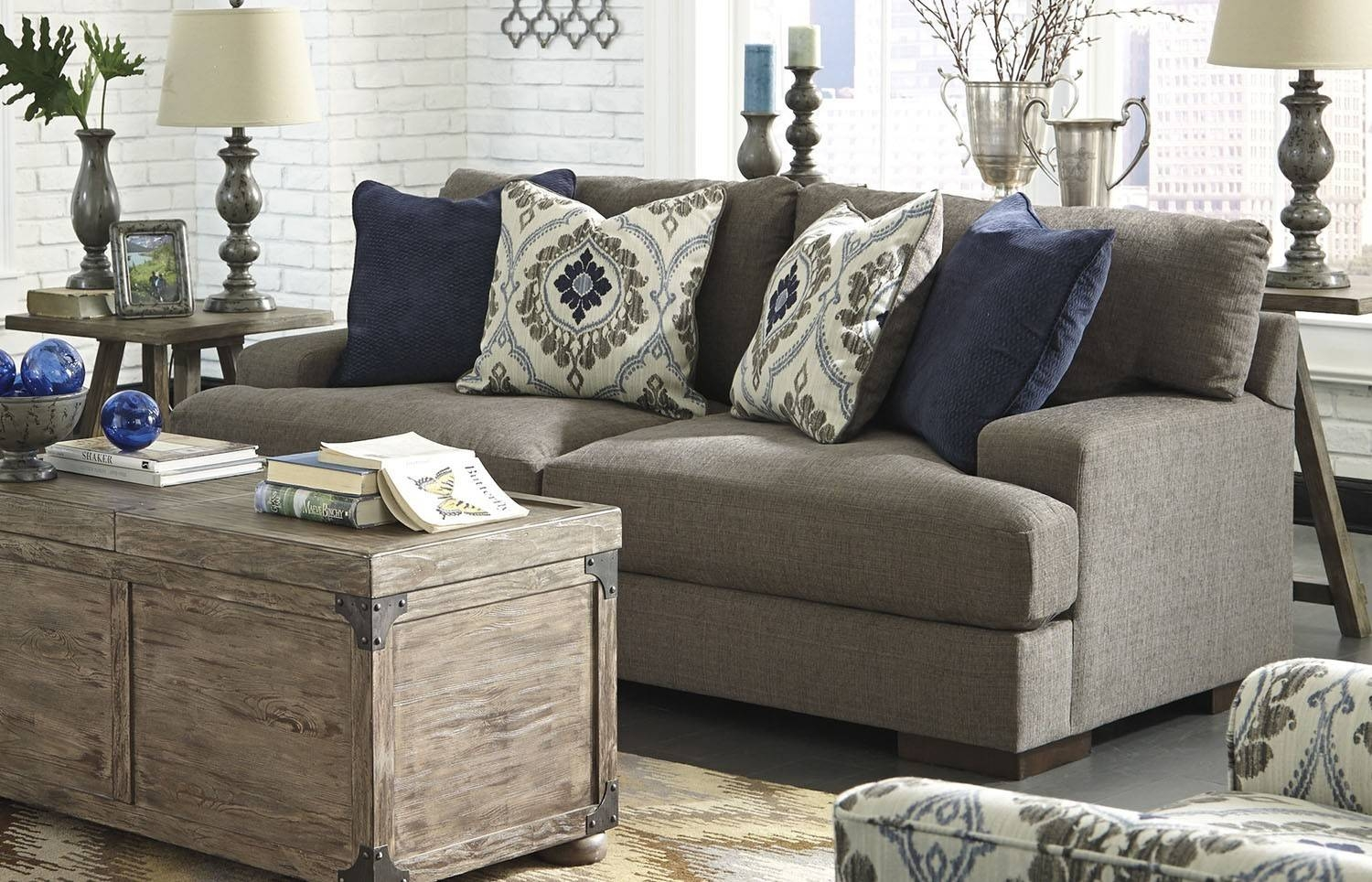 Pillows For The Ashley Furniture Gray Sofa — Home Design inside Ashley Furniture Gray Sofa (Image 25 of 30)