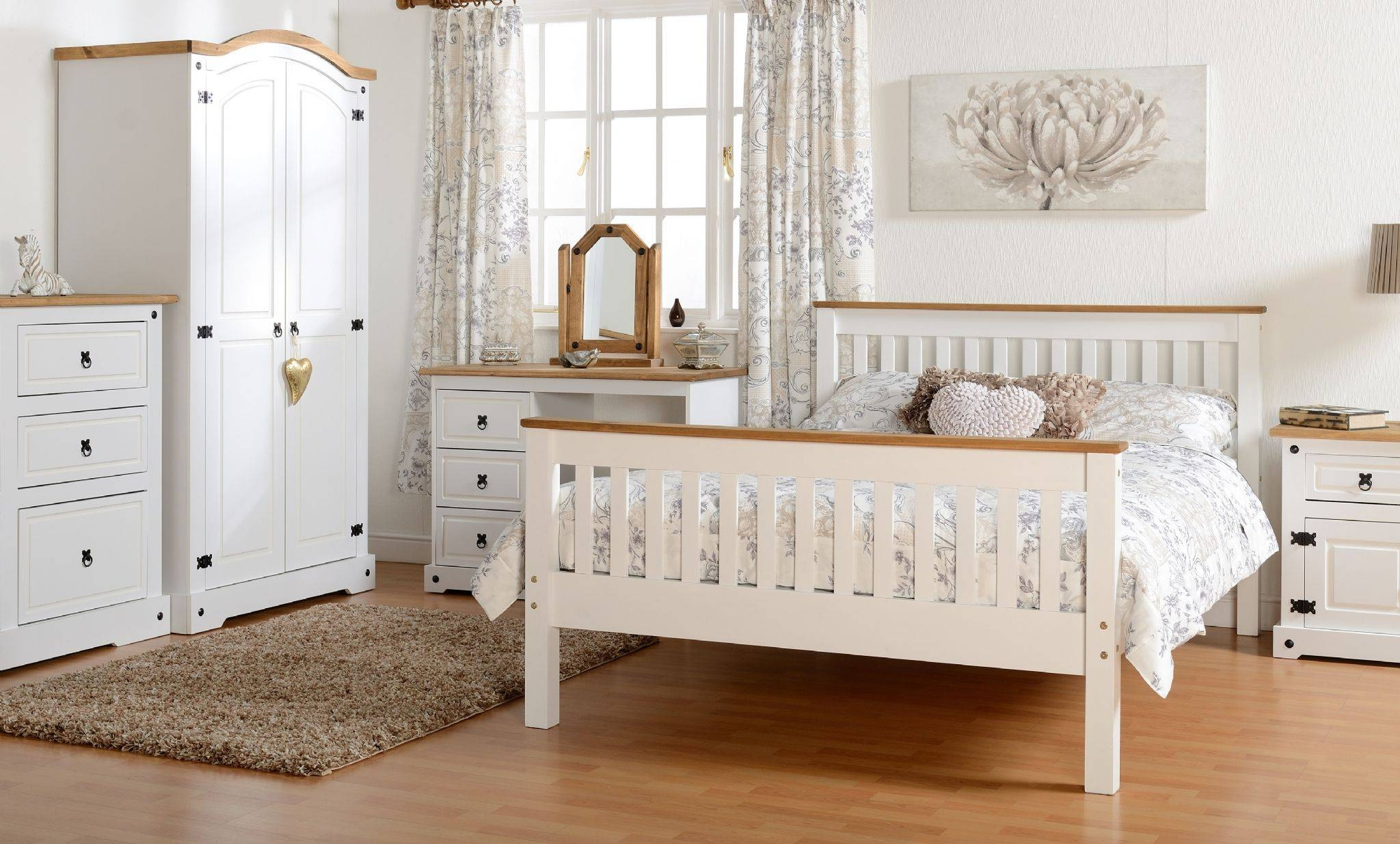 Pine And White Bedroom Furniture | Furniturest intended for White Pine Wardrobes (Image 12 of 15)