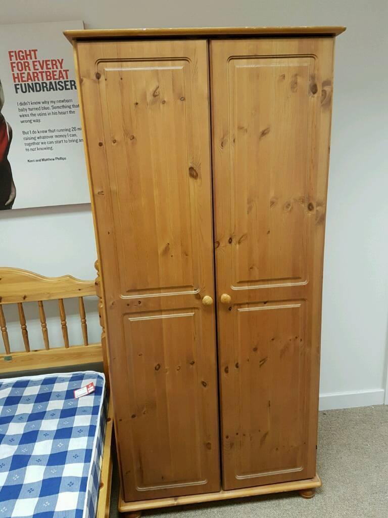 Pine Double Wardrobe | In Greenock, Inverclyde | Gumtree regarding Double Pine Wardrobes (Image 15 of 15)