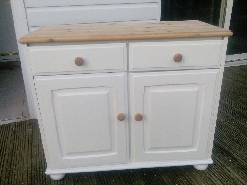 Pine Shabby Chic 2 Door Sideboard Sit On Bun Feet | In Braintree throughout Shabby Chic Pine Wardrobes (Image 7 of 15)