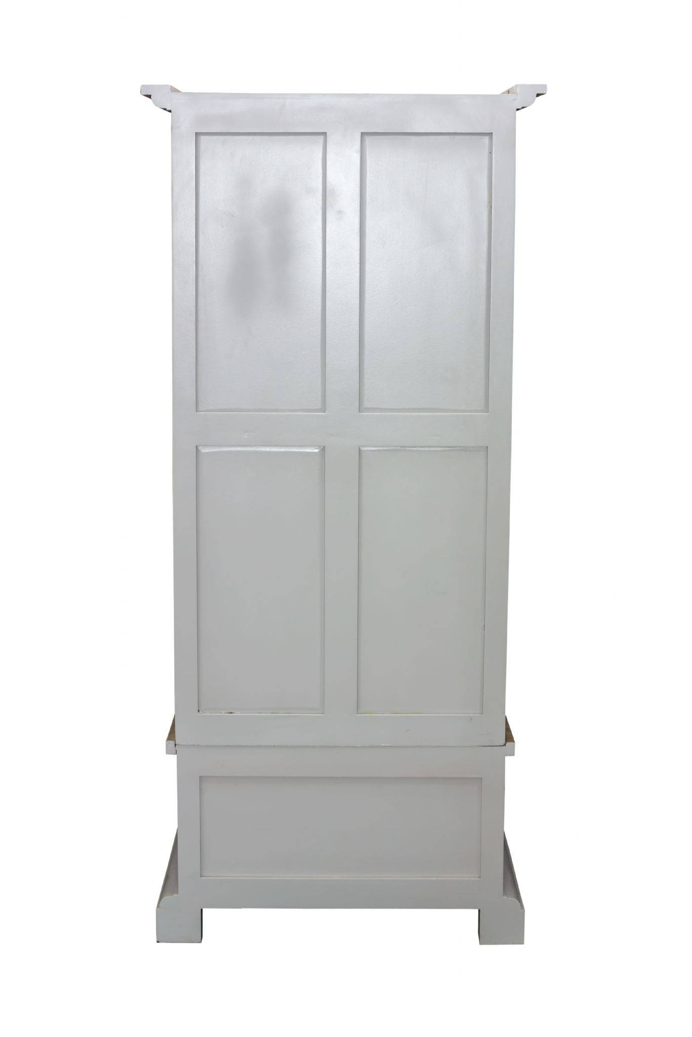 Pine Shabby Chic French Grey Single Wardrobe Inside Single French Wardrobes (View 9 of 15)