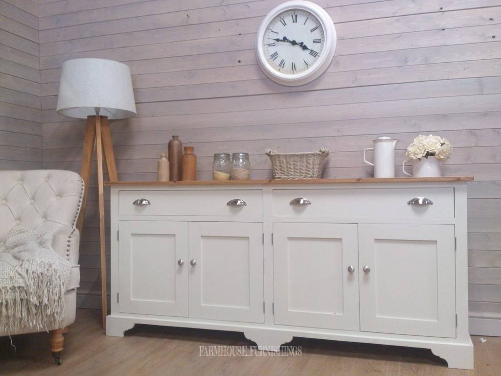 Pine Sideboards For Sale, Solid Pine 6Ft Sideboard, Farmhouse Intended For Sideboards For Sale (View 16 of 30)