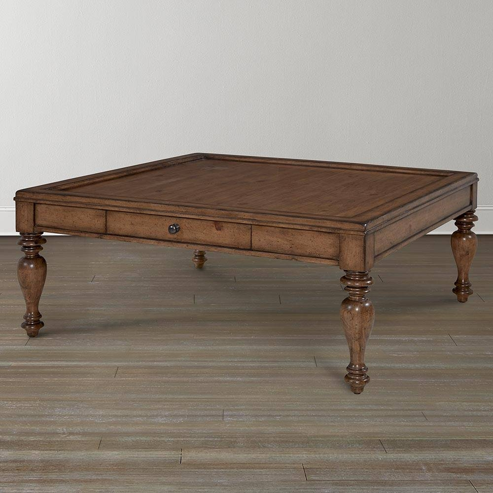 Pine Square Coffee Table for Pine Coffee Tables (Image 18 of 30)