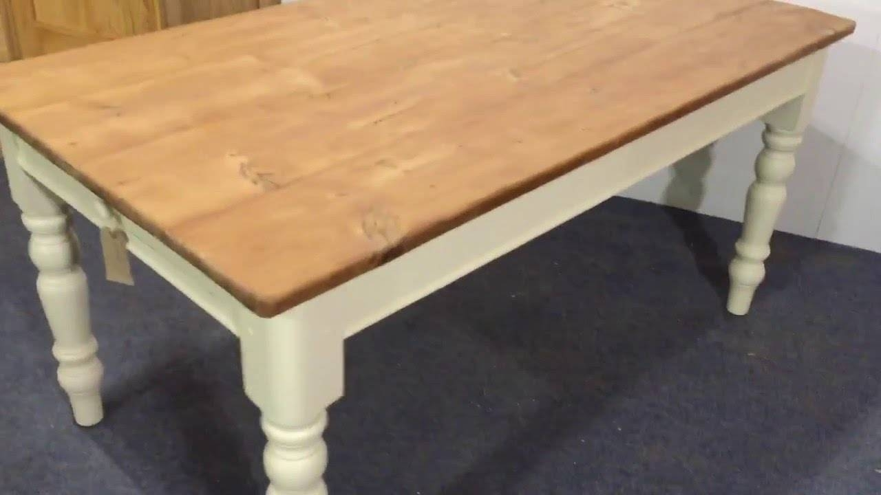 Pine Table With Painted Legs – Pinefinders Old Pine Furniture Inside Old Pine Coffee Tables (View 22 of 30)