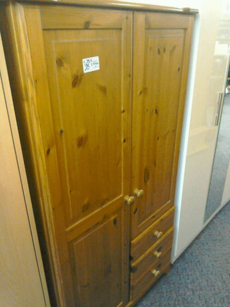 Pine Wardrobe With Drawers, Hanging Unit And Shelves #27704 £79 regarding Pine Wardrobe With Drawers and Shelves (Image 22 of 30)