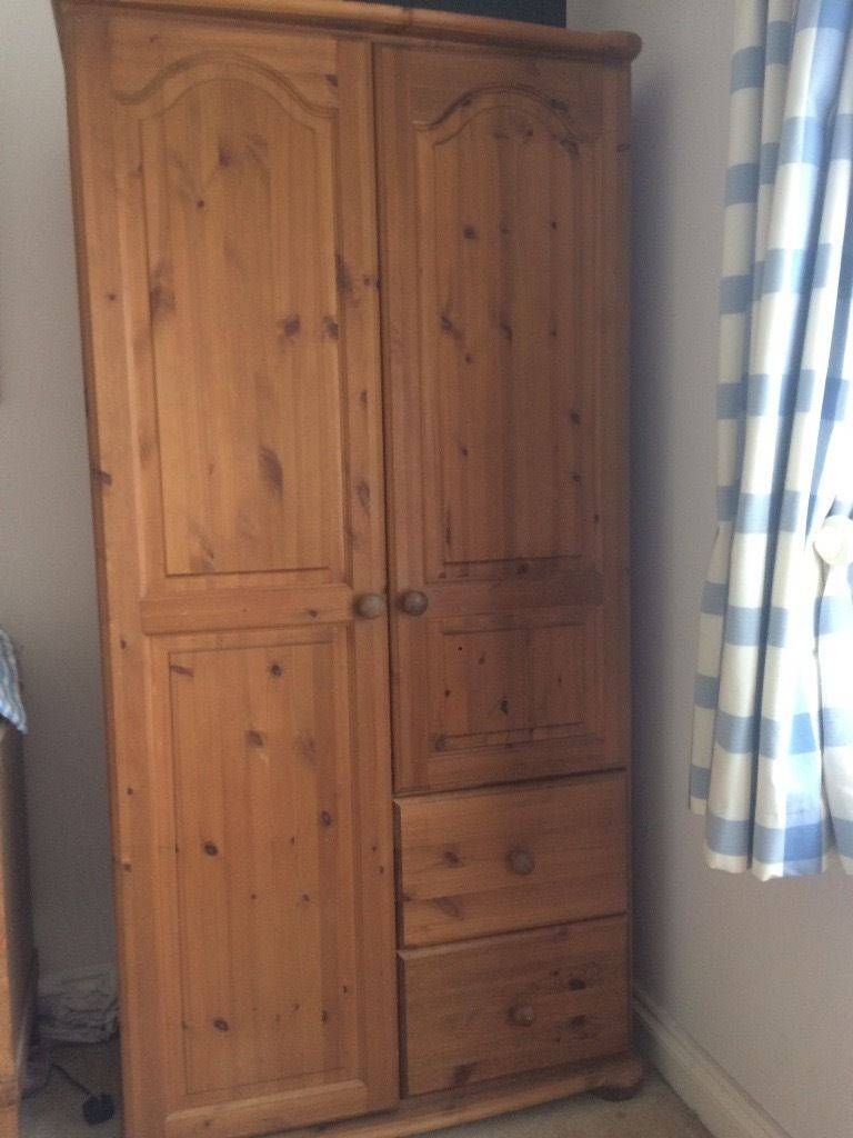 Pine Wardrobe With Shelves And Drawers | In Yelverton, Devon | Gumtree inside Wardrobe With Shelves and Drawers (Image 17 of 30)