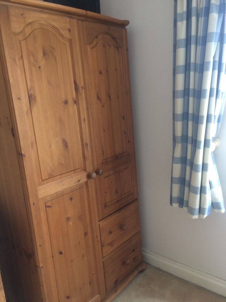 Pine Wardrobe With Shelves And Drawers | In Yelverton, Devon | Gumtree throughout Pine Wardrobe With Drawers and Shelves (Image 23 of 30)