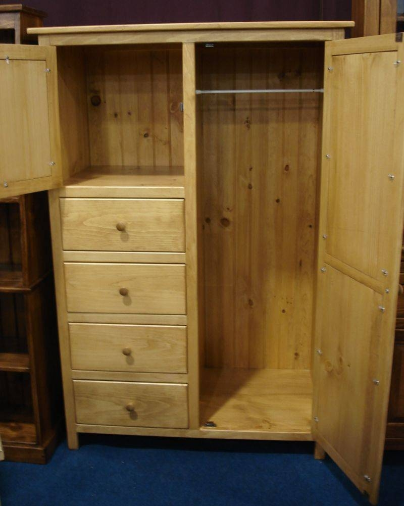 Pine Wood Wardrobe Armoire From Dutchcrafters Amish Furniture Intended For Natural Pine Wardrobes (View 13 of 15)