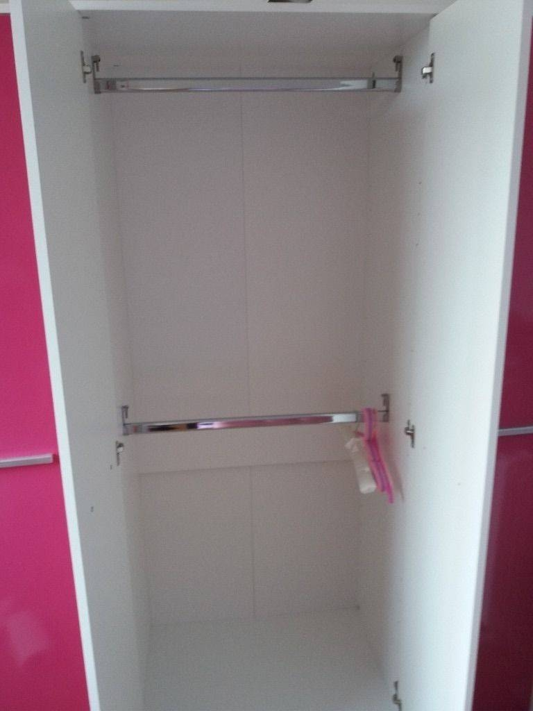 Pink High Gloss Wardrobe And Drawers | In Bishopbriggs, Glasgow in Pink High Gloss Wardrobes (Image 13 of 15)