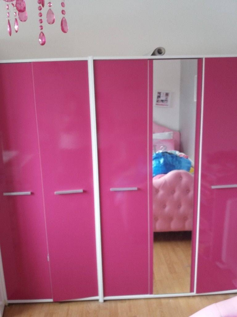 Pink High Gloss Wardrobe And Drawers | In Bishopbriggs, Glasgow pertaining to Pink High Gloss Wardrobes (Image 14 of 15)