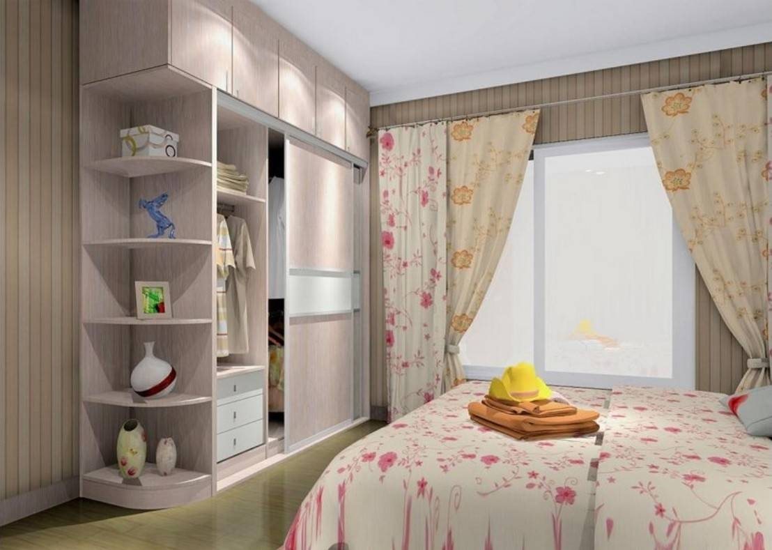Pink Wardrobe In Girls Bedroom | 3D House with regard to Girls Wardrobes (Image 10 of 15)