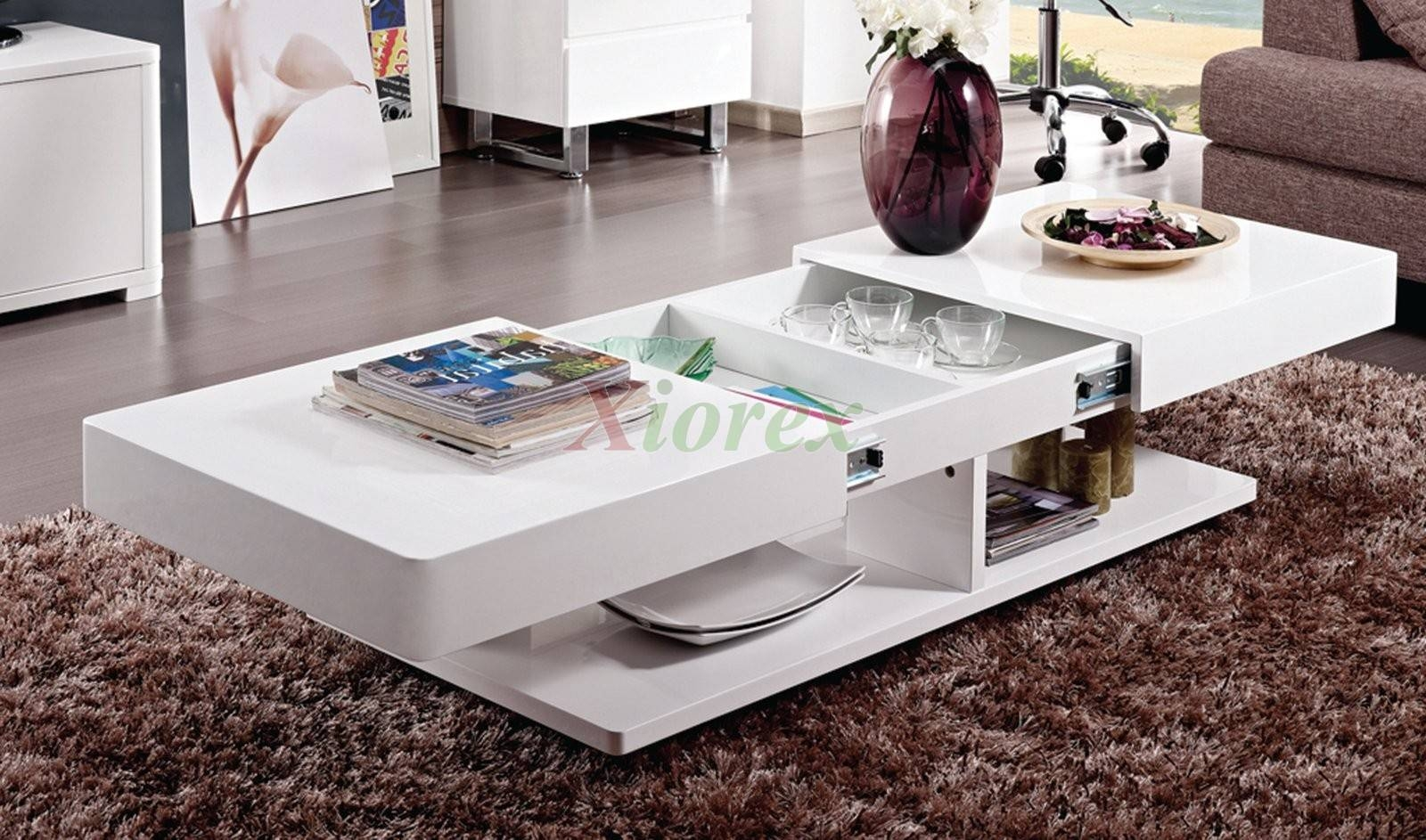 Plain Design White Living Room Tables Terrific Innovative Off with Retro White Coffee Tables (Image 20 of 30)