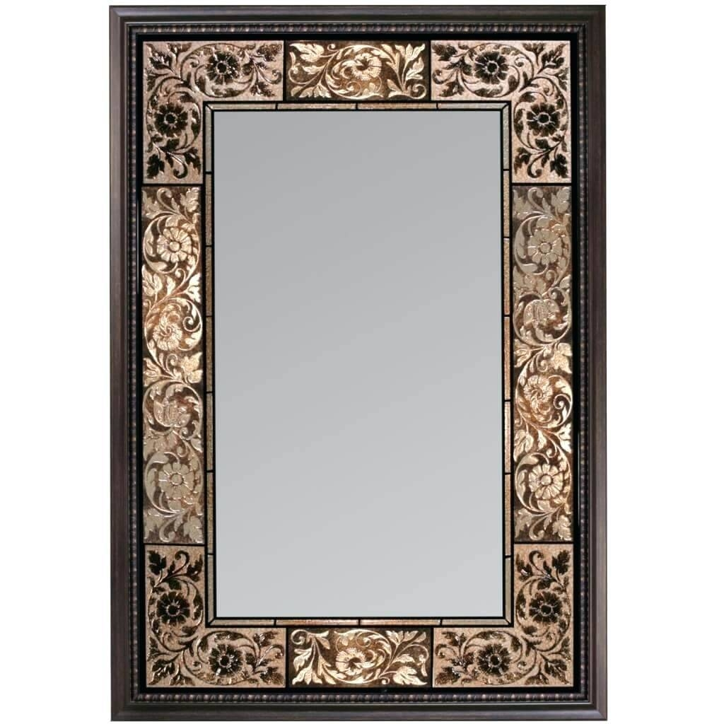 Plain Modern Rectangular Mirrors Silver Decorative Mirror From intended for Ornamental Mirrors (Image 20 of 25)
