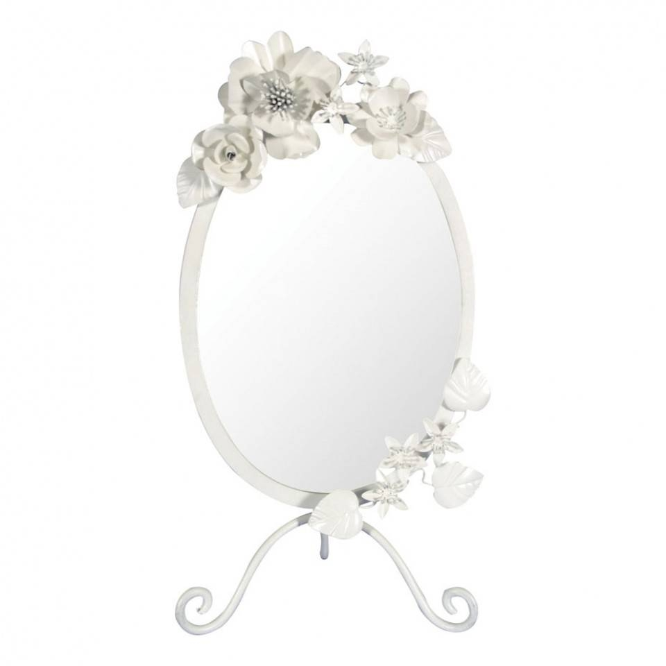 Plain Vintage Table Mirror On October 30 2012 Inspiration within Vintage White Mirrors (Image 18 of 25)