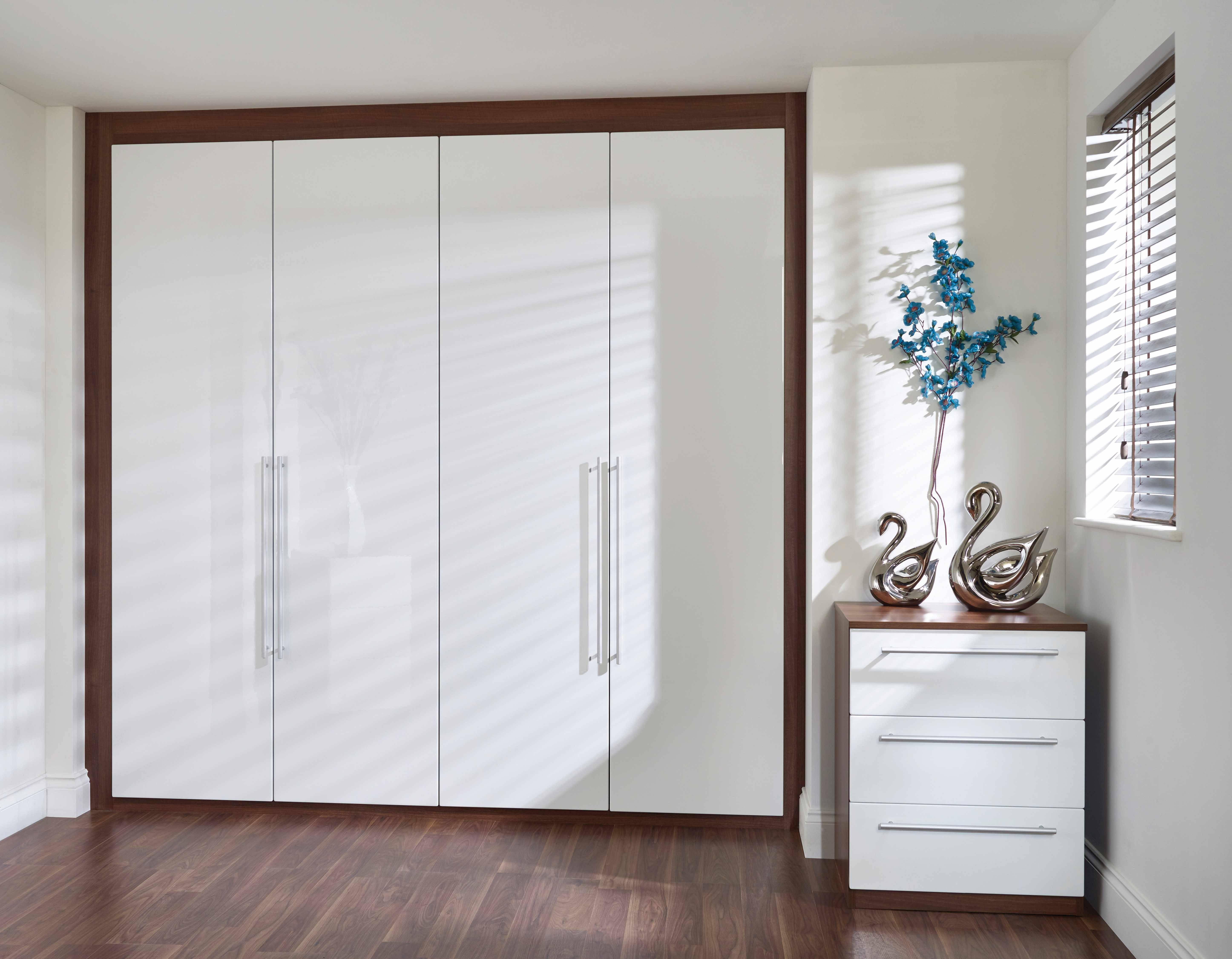 Plain White High Gloss Wardrobe - Tidy Bedroomstidy Bedrooms intended for High Gloss White Wardrobes (Image 8 of 15)