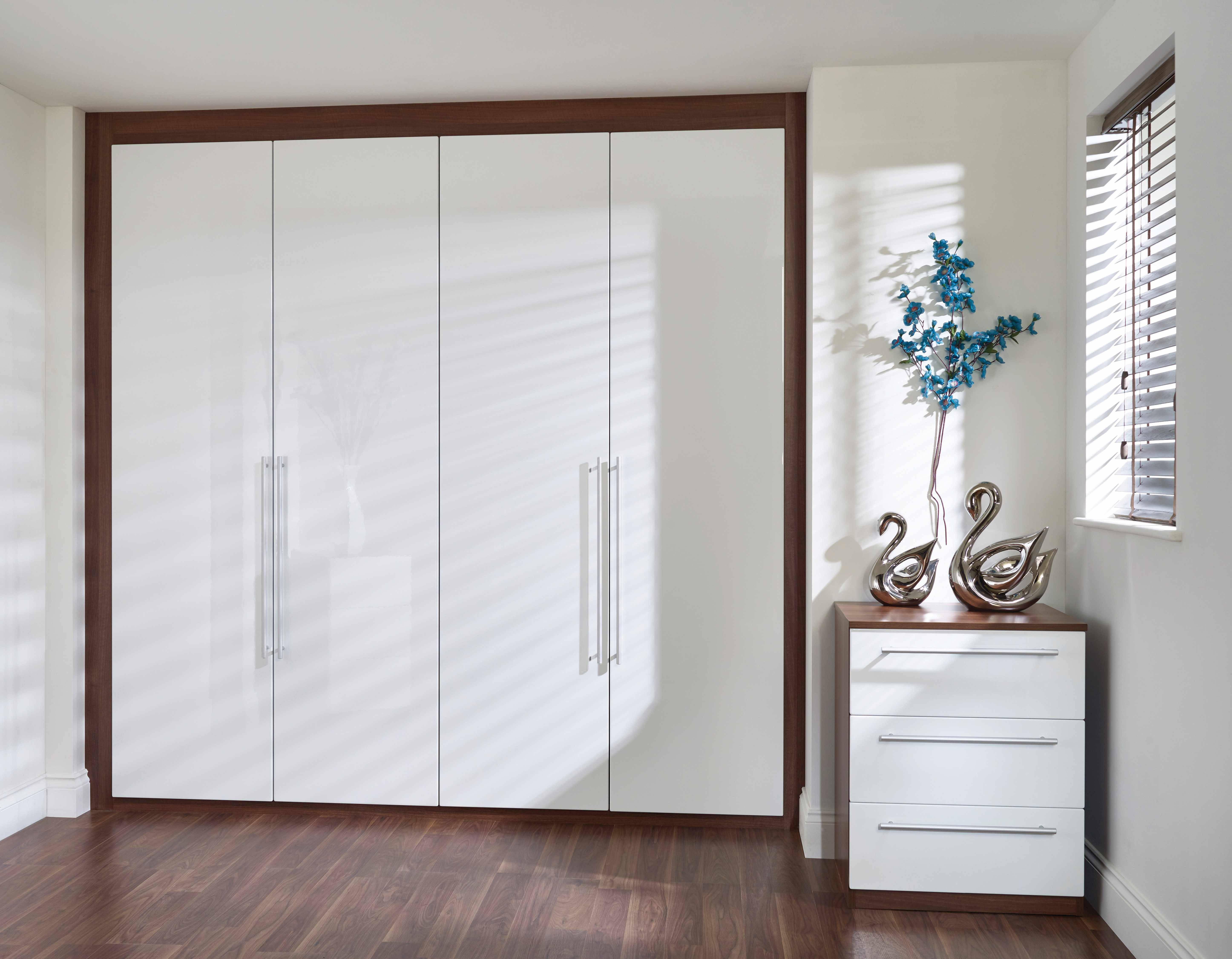 Plain White High Gloss Wardrobe - Tidy Bedroomstidy Bedrooms with regard to Glossy Wardrobes (Image 9 of 15)