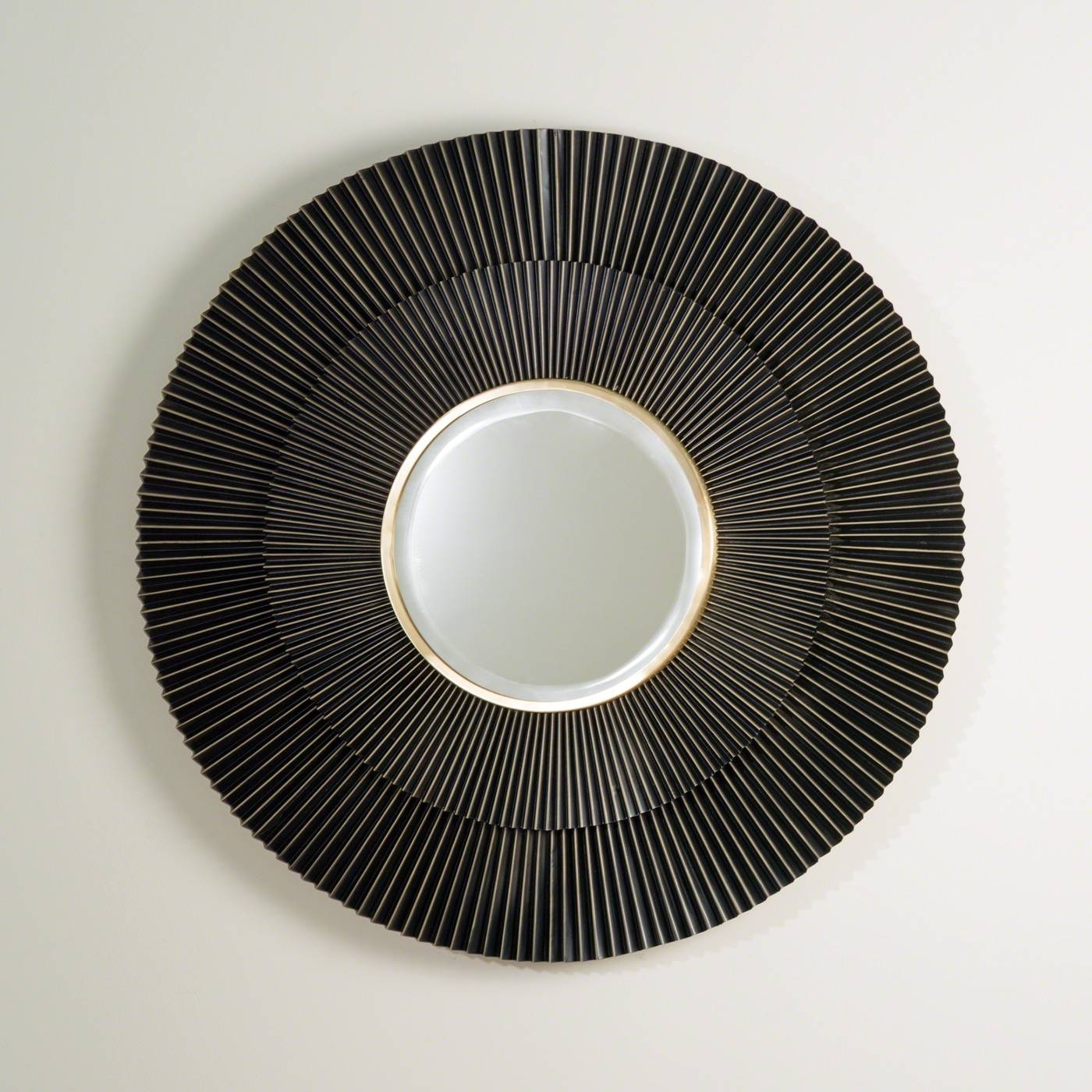 Pleated Bronze Wall Mirror | Plantation regarding Bronze Wall Mirrors (Image 13 of 25)