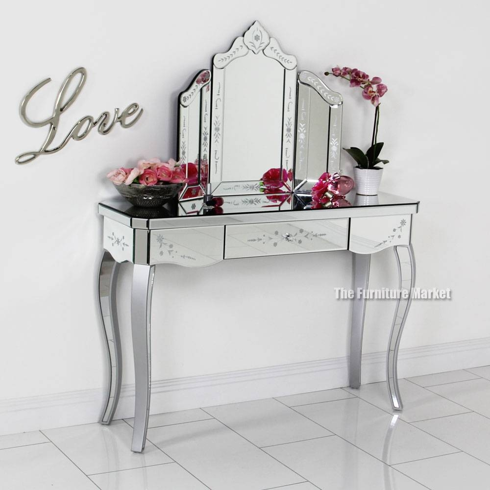 Plush Art Deco Dressing Table Mirrors Dressing Table Also Mirror in Venetian Table Mirrors (Image 13 of 25)