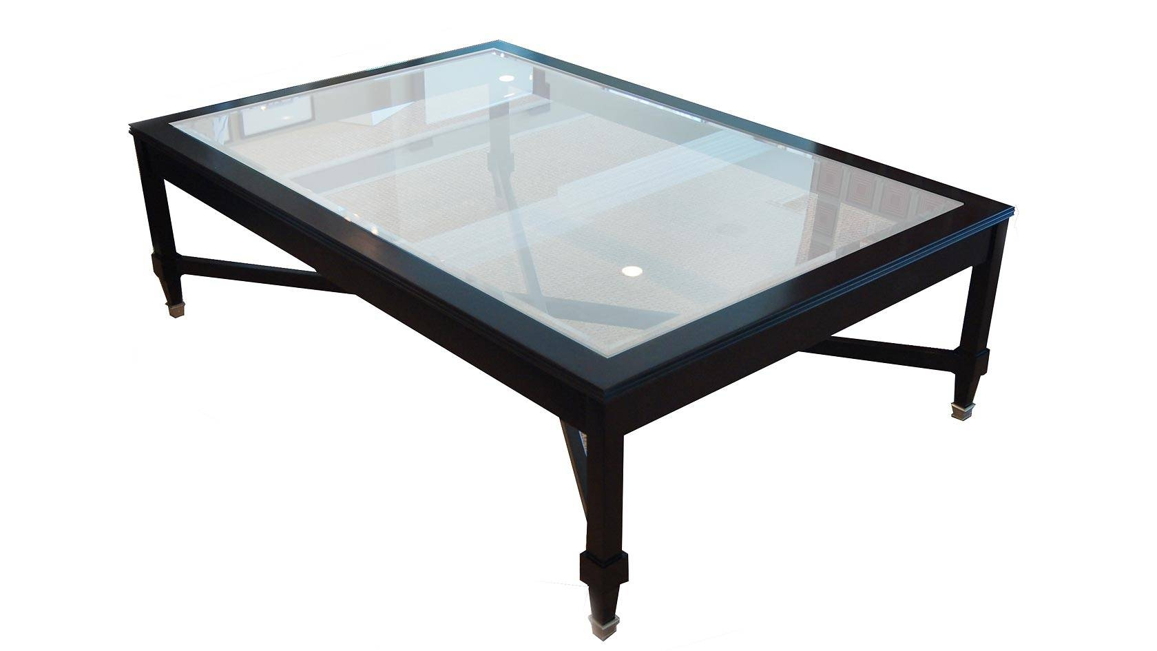 Plush Home Laurier Coffee Table With Glass Top regarding Dark Wood Coffee Tables With Glass Top (Image 23 of 30)