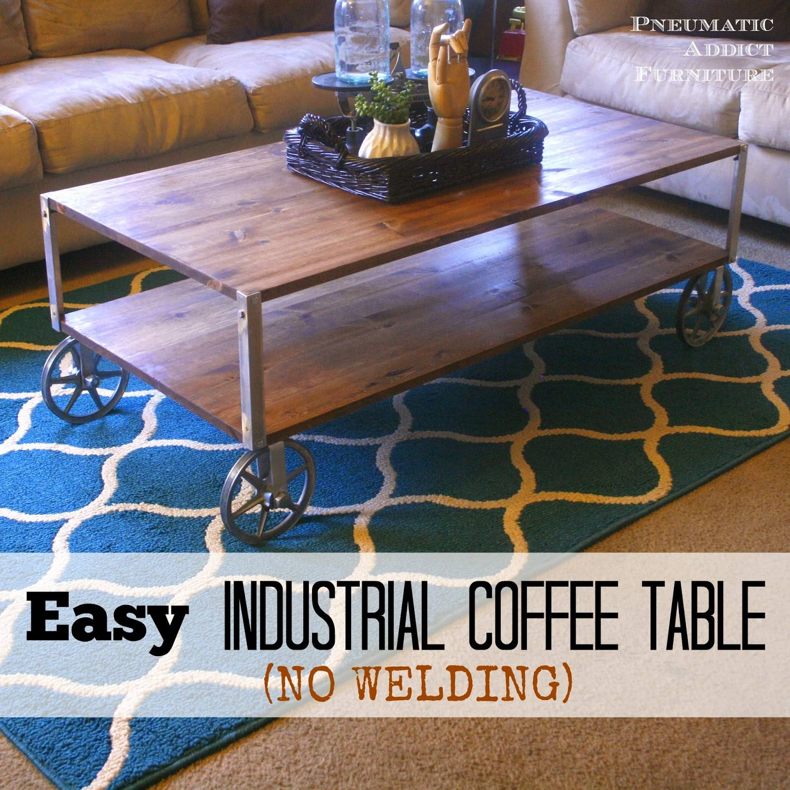 Pneumatic Addict : Easy Industrial Coffee Table (No Welding!) within Aiden Coffee Tables (Image 25 of 30)