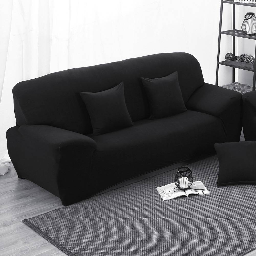 Popular Black Couch Cover-Buy Cheap Black Couch Cover Lots From with regard to Cheap Black Sofas (Image 19 of 30)