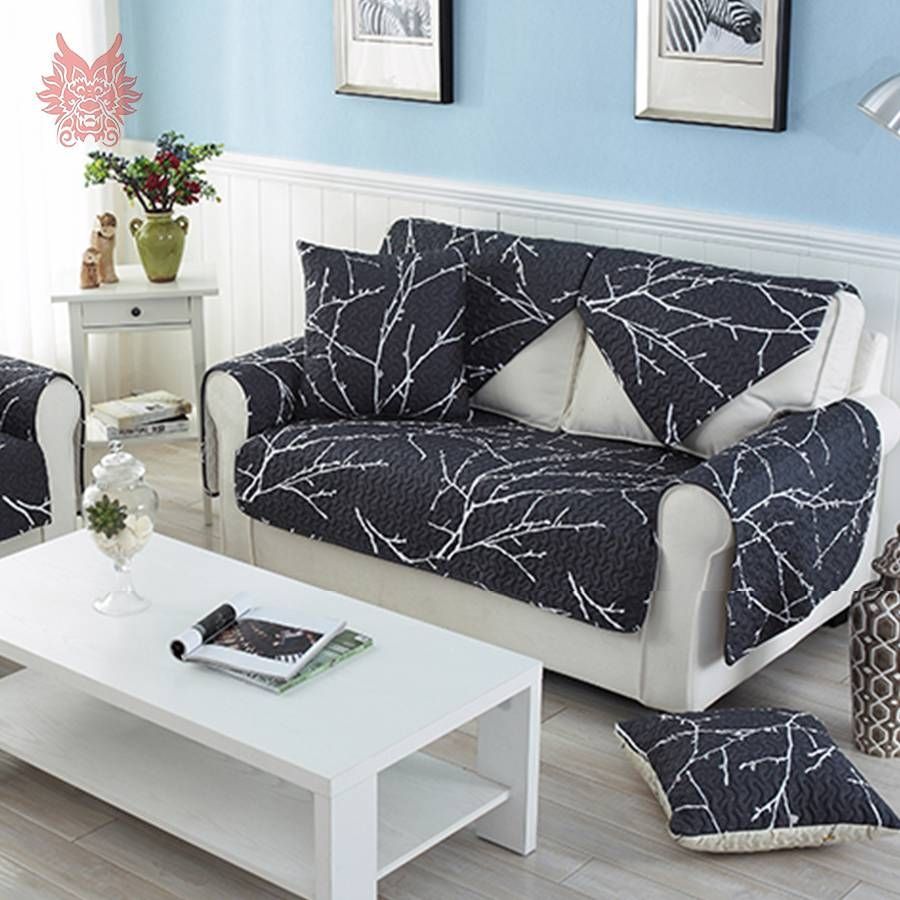 Popular Black Sofa Cover-Buy Cheap Black Sofa Cover Lots From with regard to White And Black Sofas (Image 24 of 30)