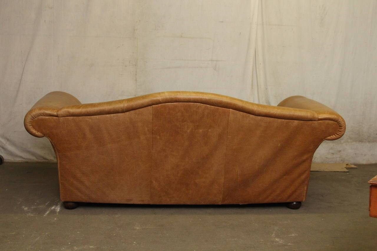 Popular Down Filled Leather Sofa And Hollywood Regency Leather throughout Down Filled Sectional Sofa (Image 11 of 25)