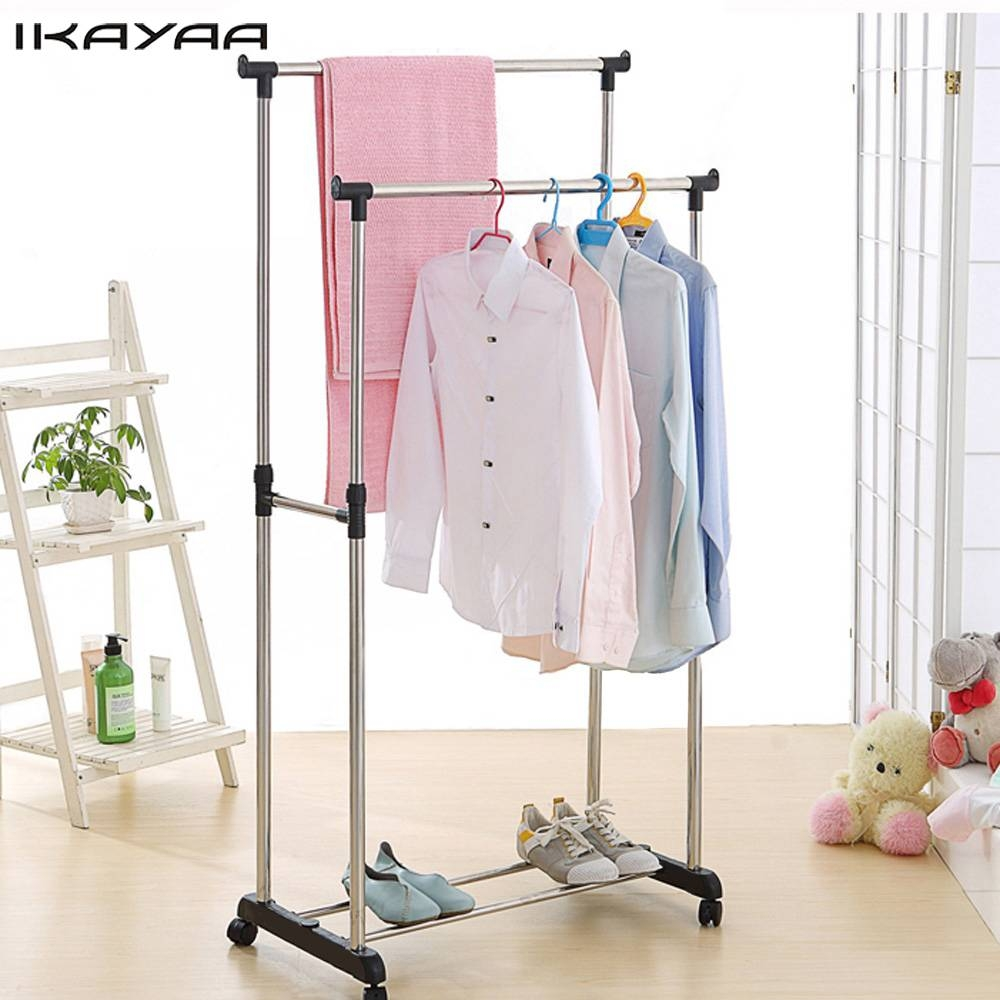 Popular Hanging Clothes Rails-Buy Cheap Hanging Clothes Rails Lots within Wardrobe Double Hanging Rail (Image 16 of 30)