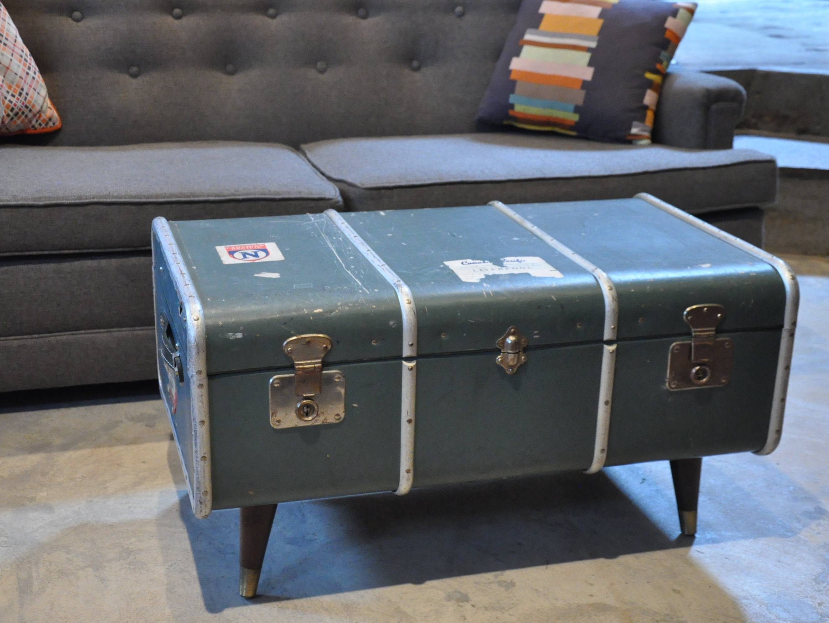 Popular Of Vintage Trunk Coffee Table With Antique Trunk Coffee throughout Old Trunks As Coffee Tables (Image 20 of 30)
