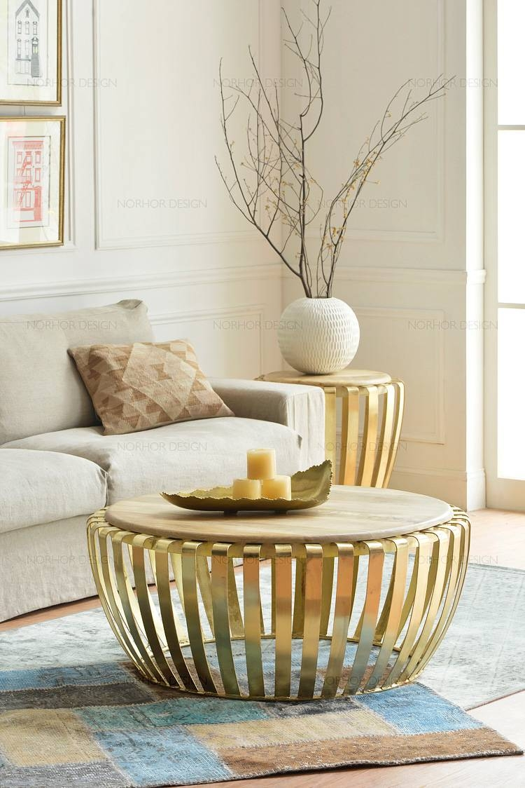 Popular Round Metal Coffee Table Buy Cheap Round Metal Coffee Pertaining To Clock Coffee Tables Round Shaped (View 26 of 30)