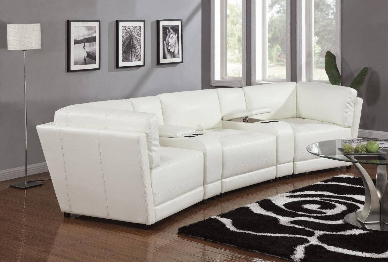 Popular Small Round Sectional Sofa 49 In Sleek Sectional Sofas regarding Sleek Sectional Sofa (Image 17 of 25)