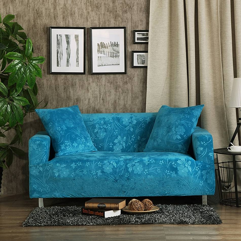 Popular Sofa Slipcover-Buy Cheap Sofa Slipcover Lots From China regarding Turquoise Sofa Covers (Image 27 of 30)
