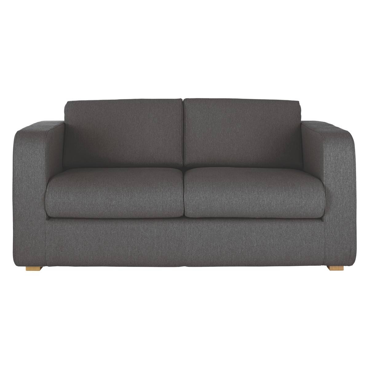 Porto Charcoal Fabric 2 Seater Sofa Bed | Buy Now At Habitat Uk with 2 Seater Sofas (Image 20 of 30)