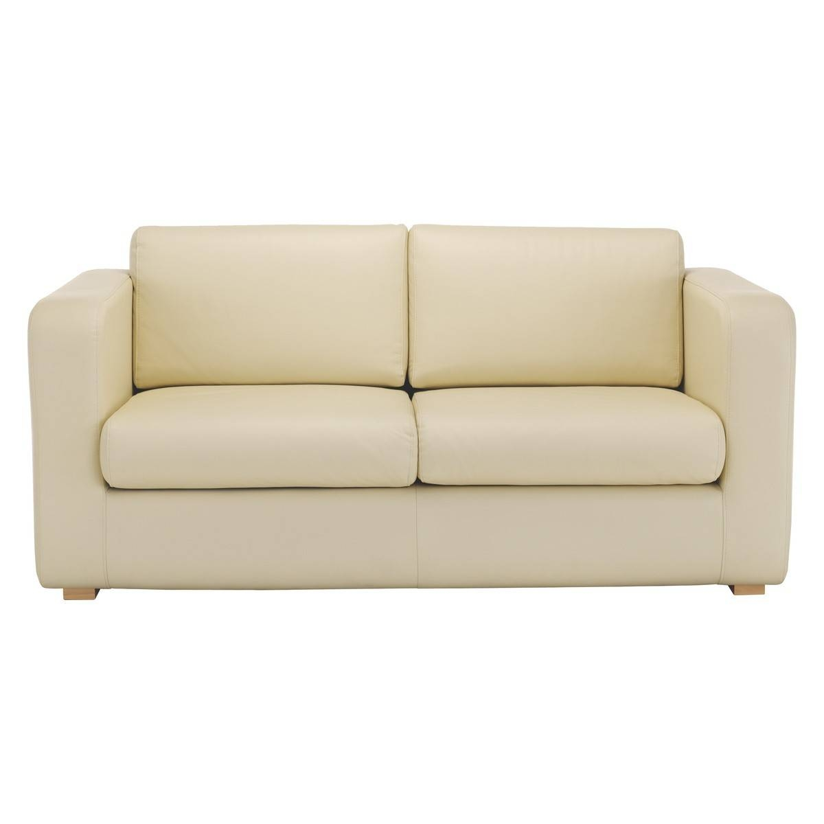 Porto Cream Leather 2 Seater Sofa Bed | Buy Now At Habitat Uk inside Two Seater Chairs (Image 18 of 30)