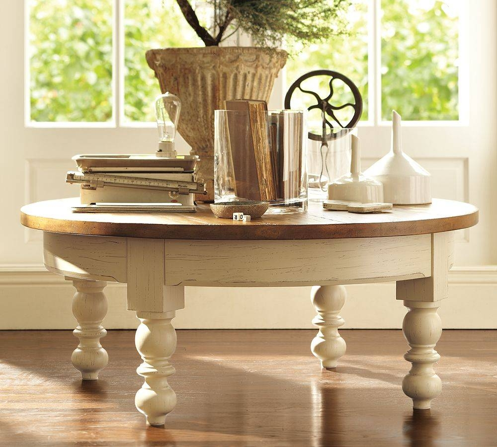 Pottery Barn Round Coffee Table | Coffee Table regarding Antique Glass Pottery Barn Coffee Tables (Image 23 of 30)