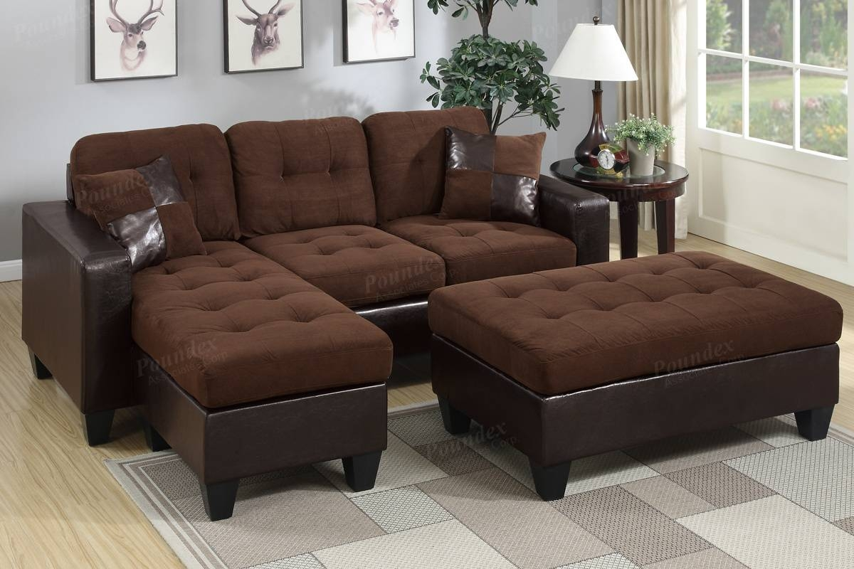 Poundex Associates Item F6928: 3-Pcs All In One Reversible Mini with regard to Mini Sectional Sofas (Image 20 of 30)