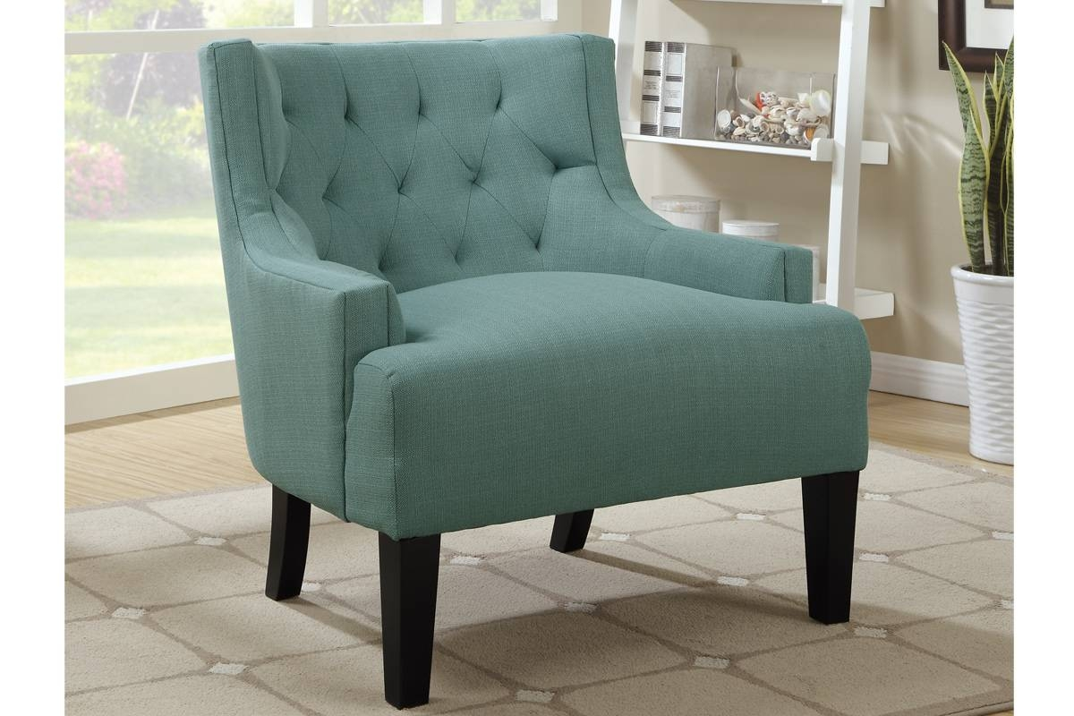 Poundex F1414 Blue Wood Accent Chair - Steal-A-Sofa Furniture with Accent Sofa Chairs (Image 28 of 30)