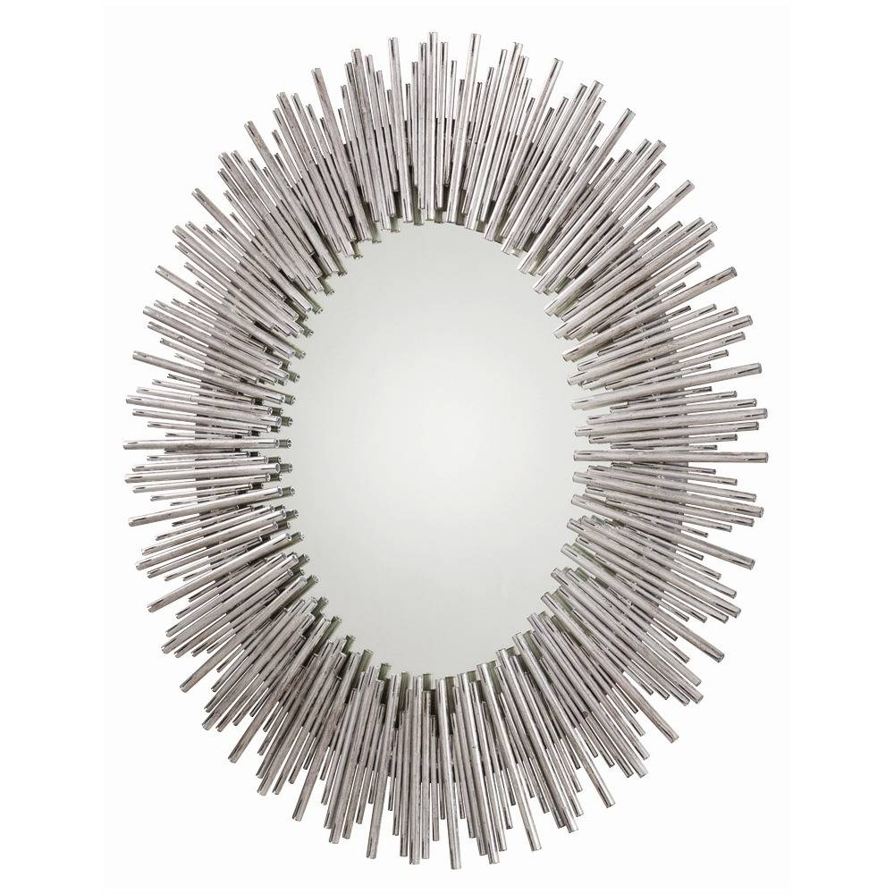 Prescott Large Oval Mirror - Silver Reeds | Arteriors 6684 with Large Oval Mirrors (Image 22 of 25)