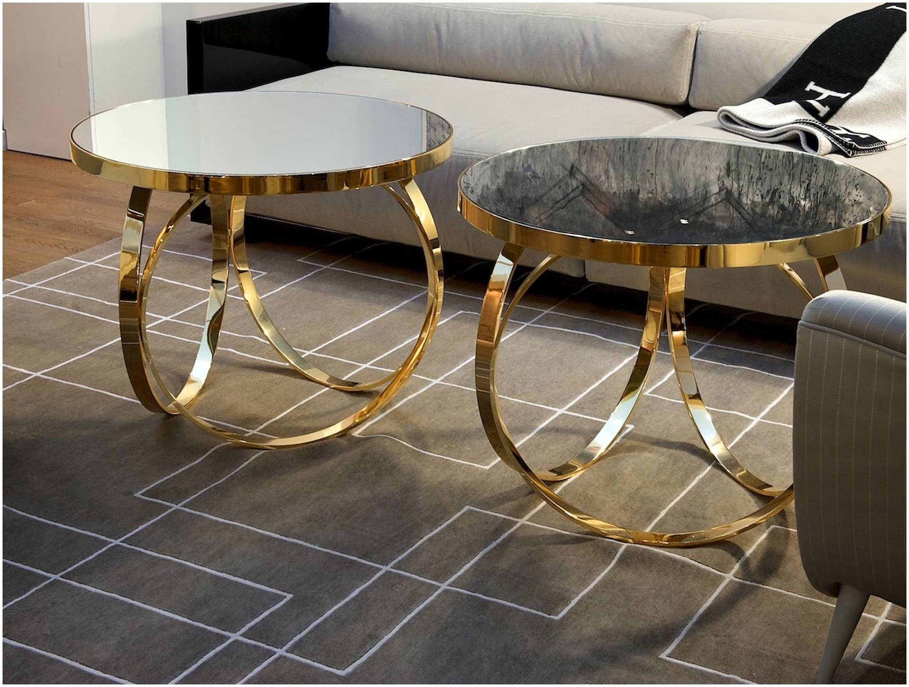 Pretty Round Gold Coffee Table – Cocinacentral.co regarding Glass Gold Coffee Tables (Image 23 of 30)