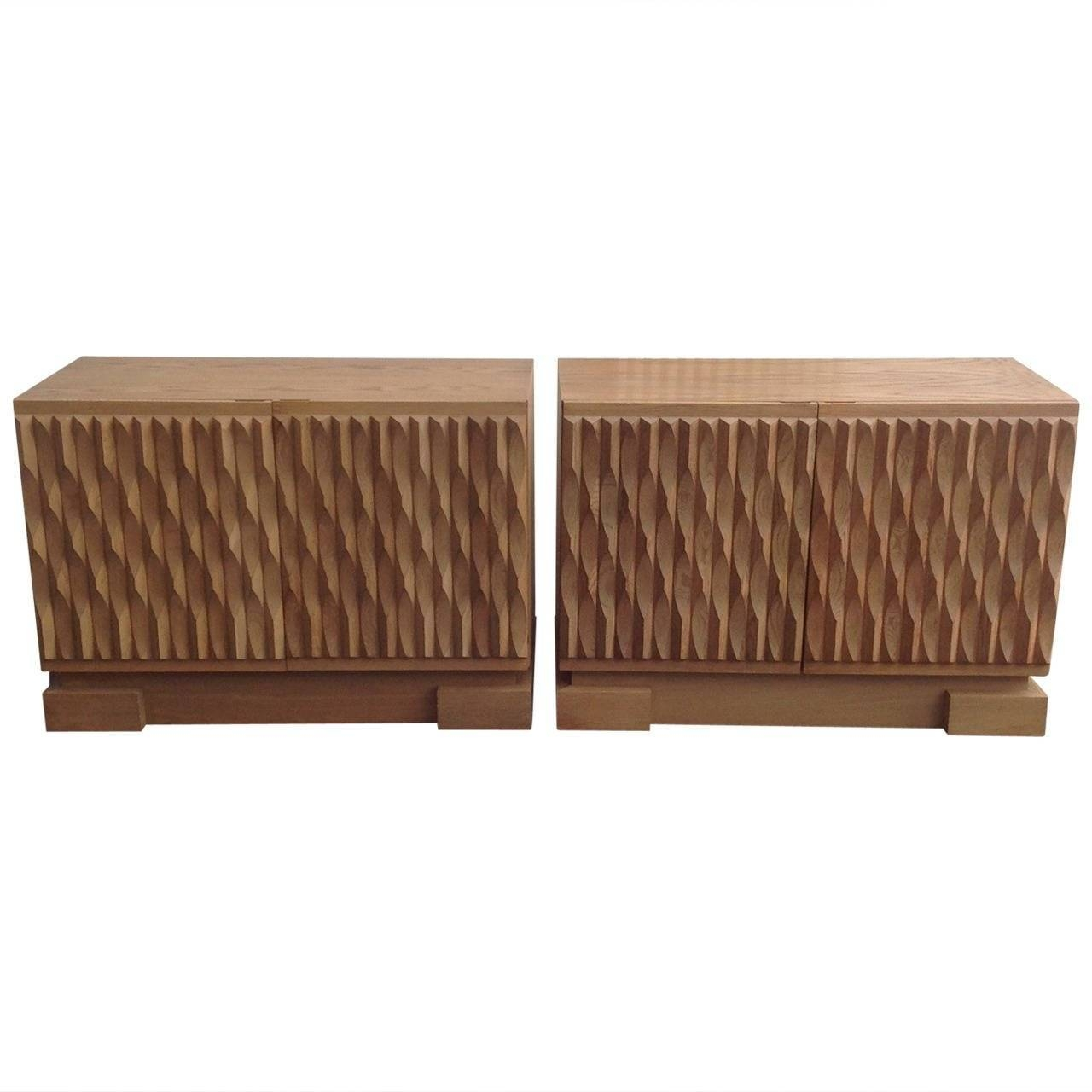 Price For 2 Belgium Brutalist Credenza Small Sideboards In Solid Within Small Sideboards (View 11 of 30)