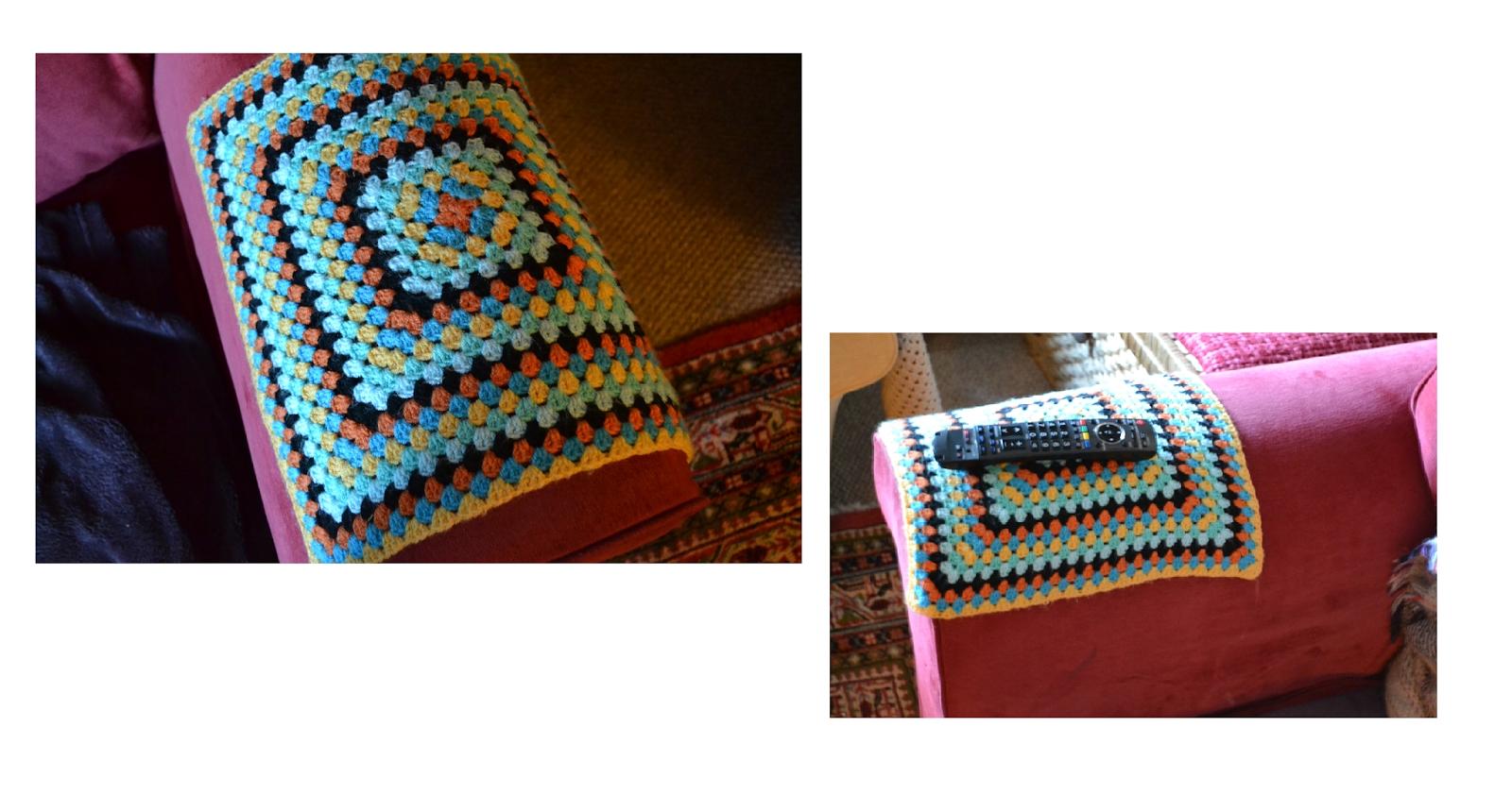 Primroses And Petticoats : Crochet Granny Square Arm Caps And regarding Sofa Arm Caps (Image 27 of 30)
