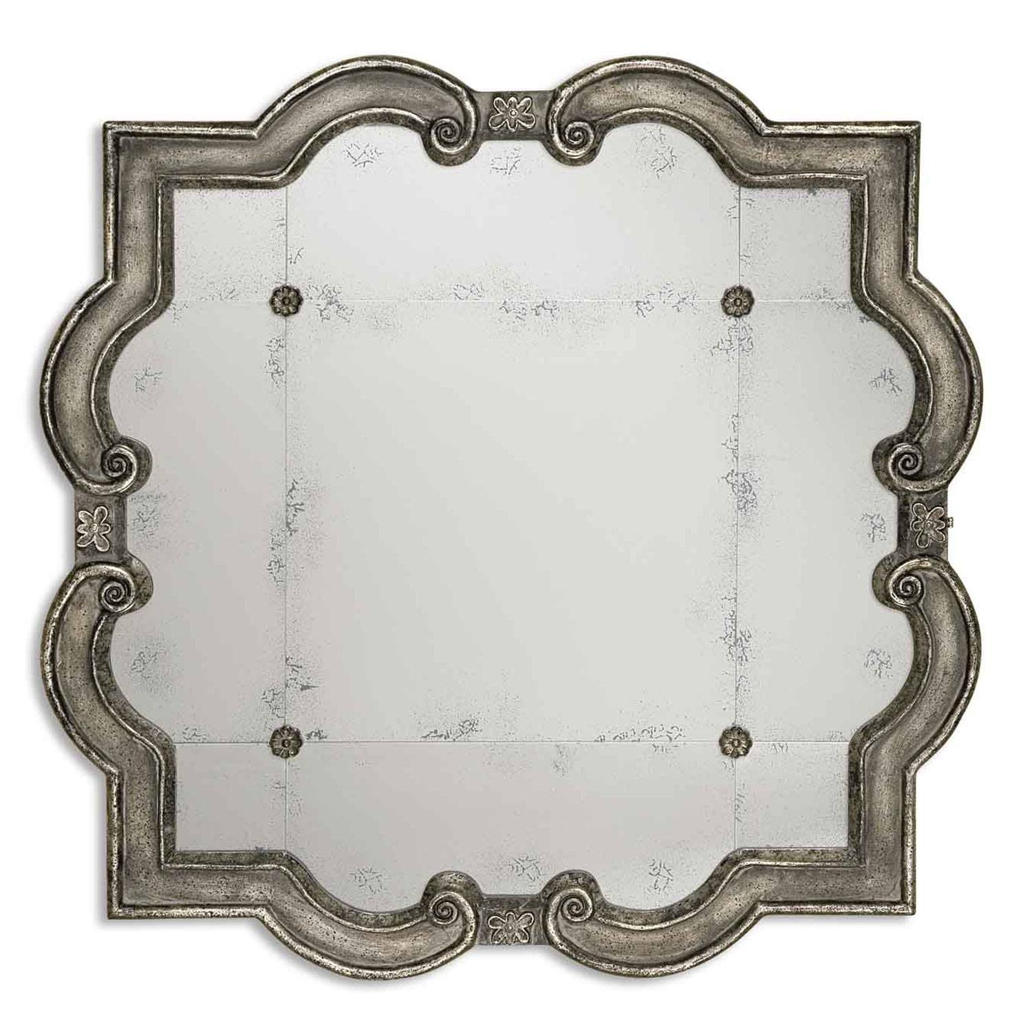 Prisca Small Mirror Uttermost Wall Mirror Mirrors Home Decor throughout Small Antique Mirrors (Image 20 of 25)