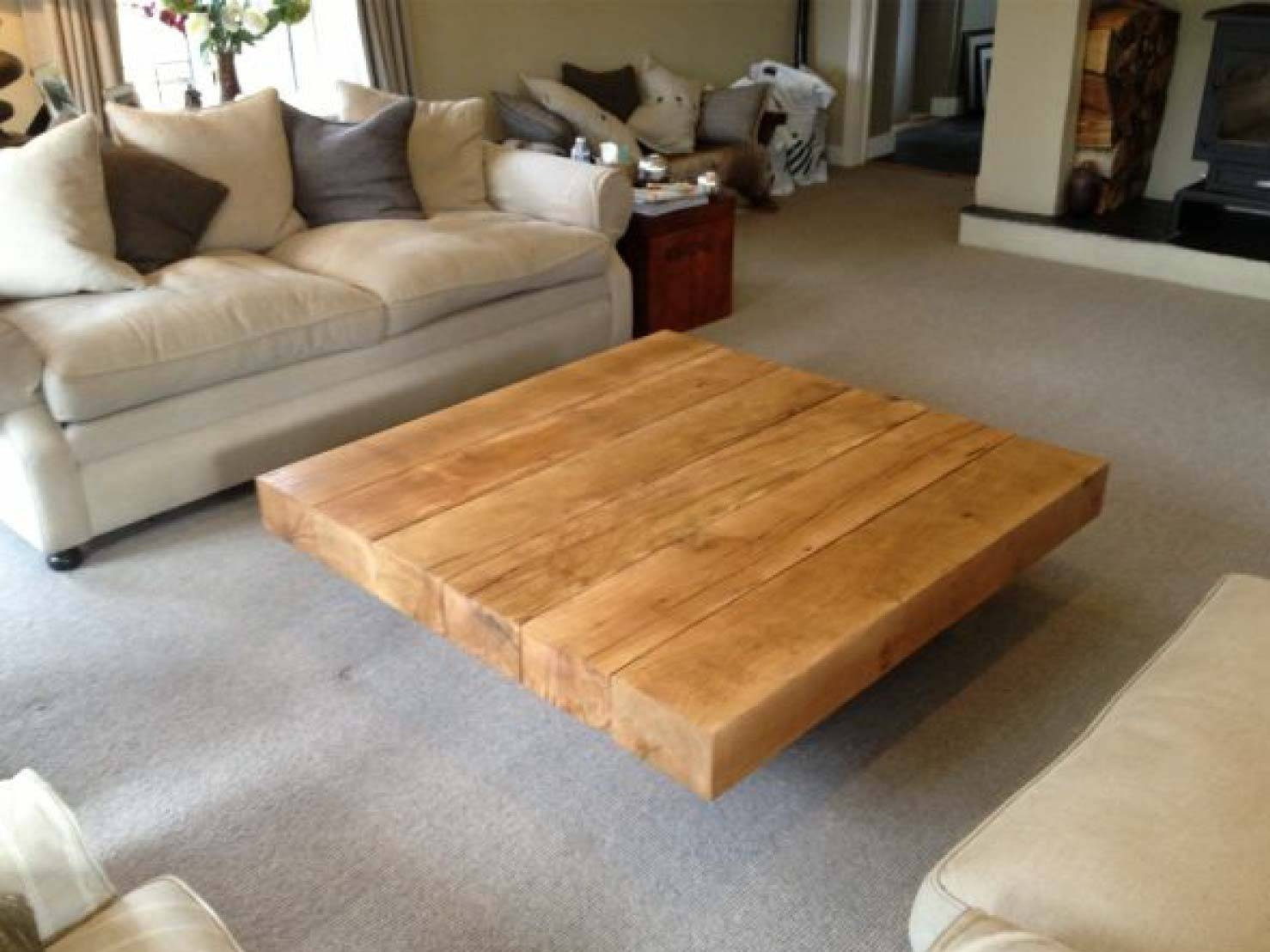 Project #59 Square Oak Coffee Table | Abacus Tables with Square Oak Coffee Tables (Image 22 of 30)