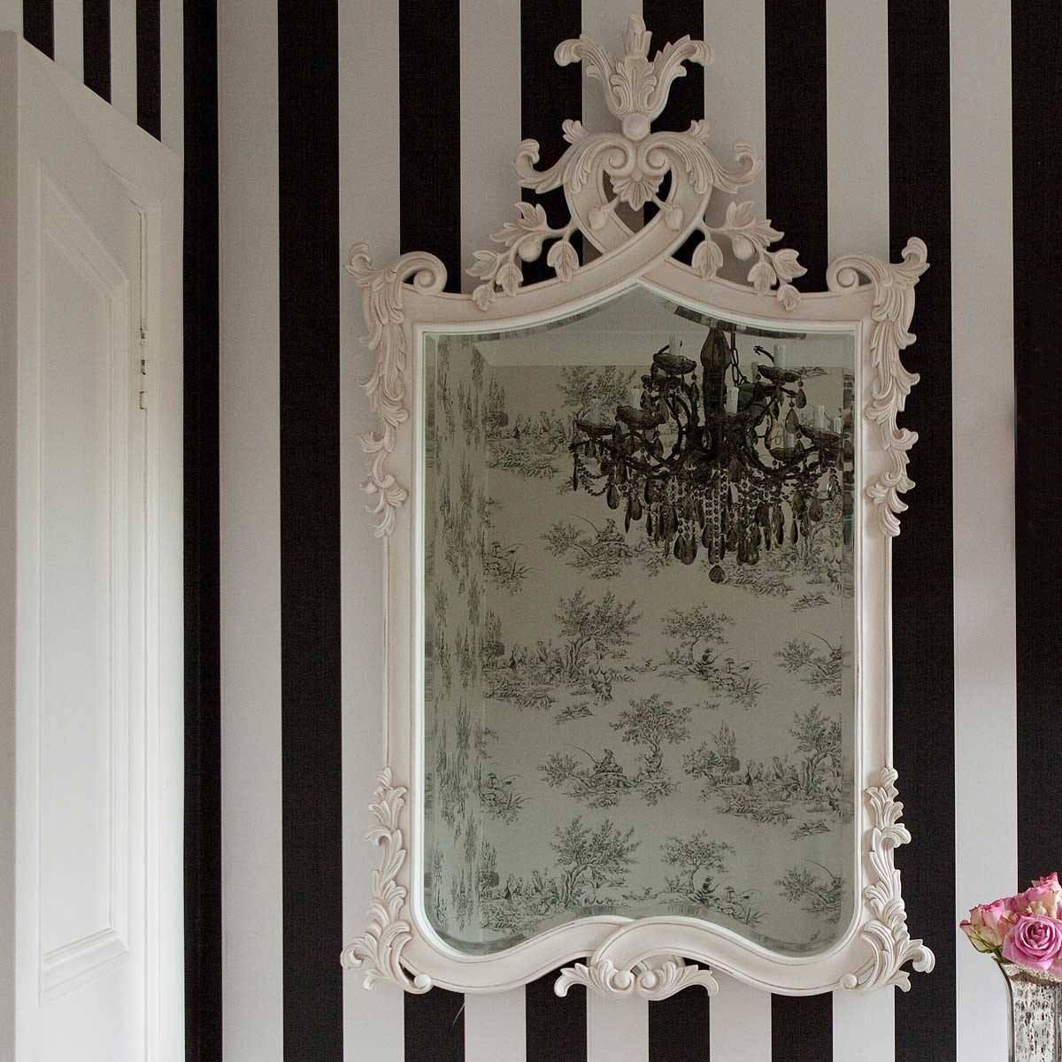 Provencal Heart Top White Mirror | Luxury Mirror within White French Mirrors (Image 20 of 25)